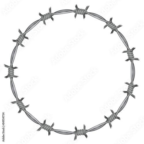 Fotografía Frame barbed wire