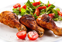 Barbecued Chicken Drumsticks A...