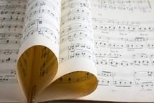 Music, Heart Shape, Love.