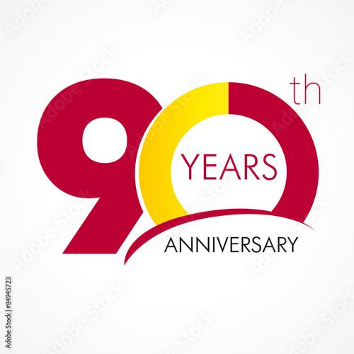 Valokuva 90 years anniversary logo