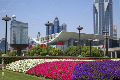 Photo  花いっぱいの人民広場