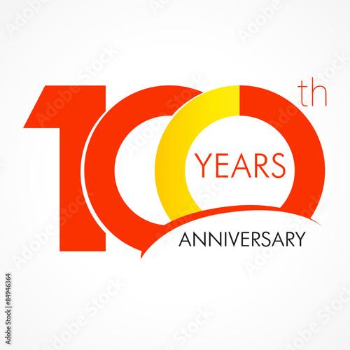 Fotografía 100 years anniversar logo