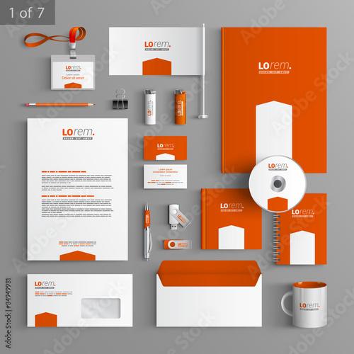 Fototapeta Stationery template design obraz