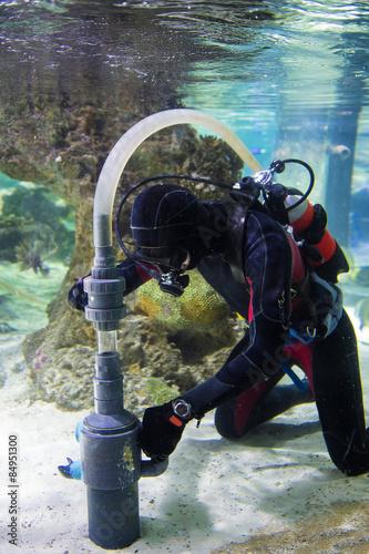 Fotografie, Obraz  Lavori sott'acqua