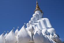Five White Buddha Statue,Wat Phra That Pha Son Kaew.