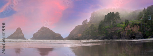 Wall Murals Coast Heceta Head Lighthouse State Park in Yachats Oregon Panorama