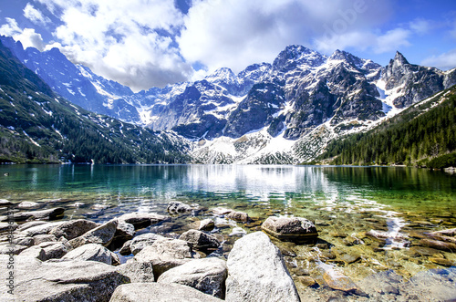 Deurstickers Bergen Morskie Oko Lake