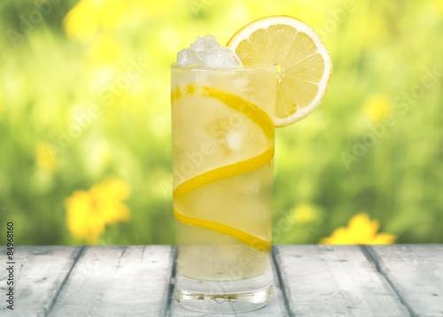 Canvas Print Lemonade, Refreshment, Cold Drink.