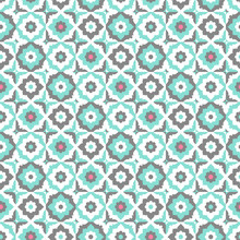 Seamless Pattern With Floral O...
