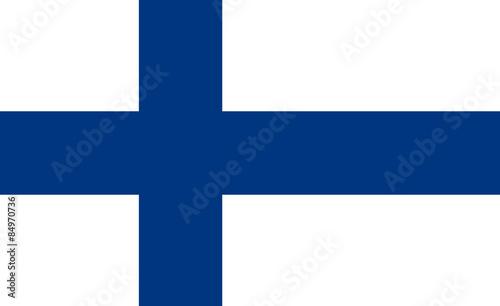 Fotografie, Obraz  Flag of Finland Horizontal