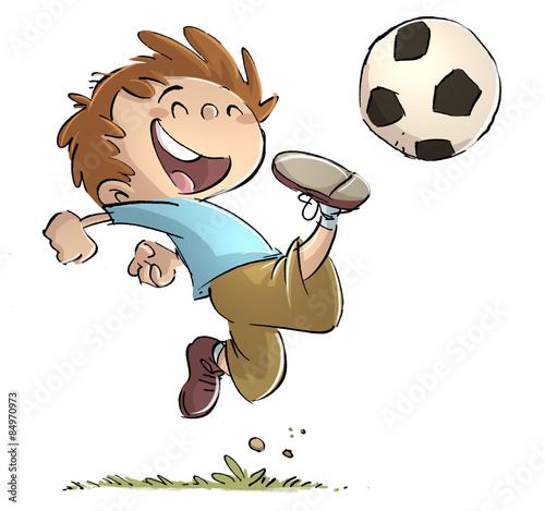 Fotografie, Obraz  niño jugando con pelota