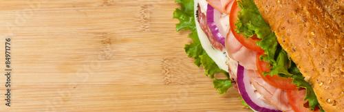 Staande foto Snack Sandwich. Selective focus.