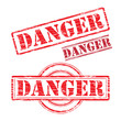 Rubber stamp design DANGER