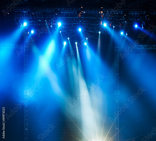 Papiers peints Lumiere, Ombre Vector Stage Spotlight with Laser rays