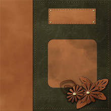 Classical Book Cover With Decorative Elements