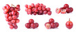 canvas print picture - Red grapes isolated on a white background
