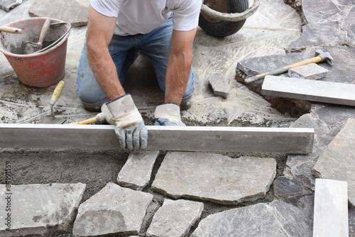 Cuadros en Lienzo Muratore lavoro persone cemento edilizia edil