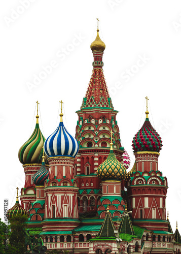 In de dag Moskou St. Basil's Cathedral. Red Square. Moscow.Russia