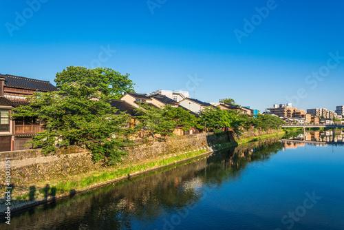 Foto auf Gartenposter Stadt am Wasser 金沢 主計町(かずえまち)茶屋街