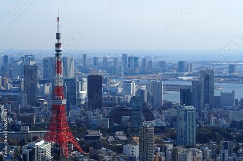Poster Tokyo 六本木ヒルズ展望台からの東京タワー
