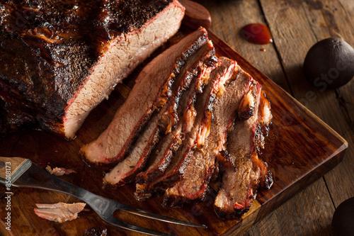 Obraz na plátně  Homemade Smoked Barbecue Beef Brisket