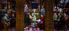 Jesus At The Temple - Stained Glass
