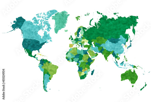 Plakát  世界 地図 アイコン