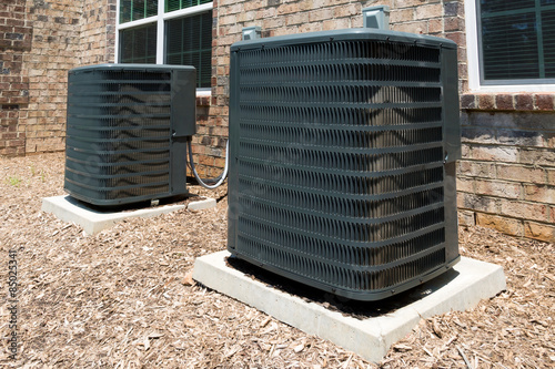 Fotografia, Obraz  Residential building air conditioning units
