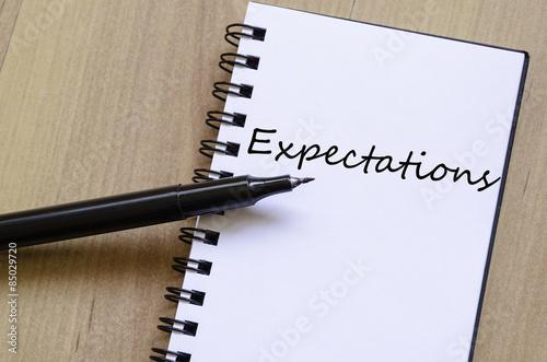 Fotografie, Obraz  Expectations concept