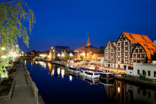 City Of Bydgoszcz By Night In ...