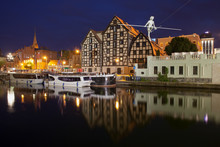 Granaries In Bydgoszcz At Night