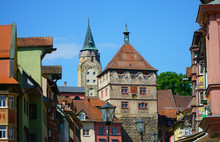 Stadtkern Mit Schwarzem Tor In Der Stadt Rottweil