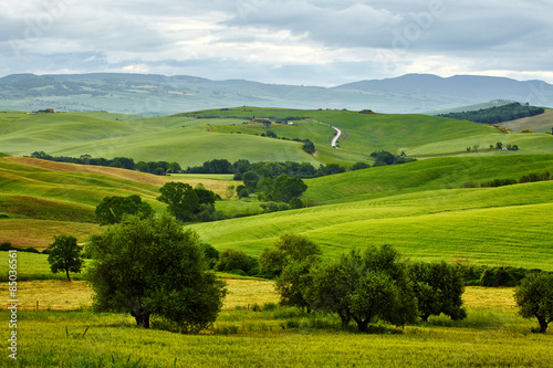 Foto auf Gartenposter Hugel beautiful summer landscape