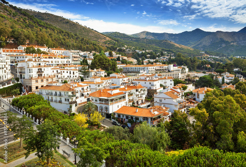 Canvas Print Mijas in Province of Malaga, Andalusia, Spain.