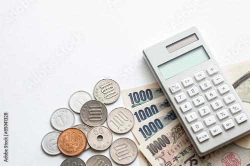 Fotografia, Obraz  お金と電卓