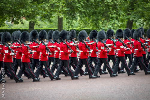 Photo  London Queen's Guards Marching in Formation