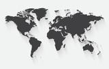 Vector world map illustration.