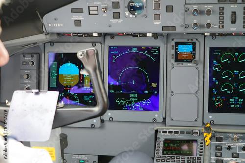 Cockpit avion Canvas Print