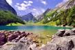 canvas print picture - Seealpsee im Alpsteingebirge mit Säntis im Hintergrund