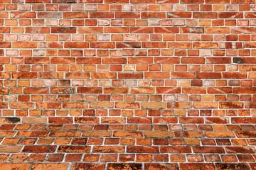 Strukturierte Backsteinmauer - Räumlich