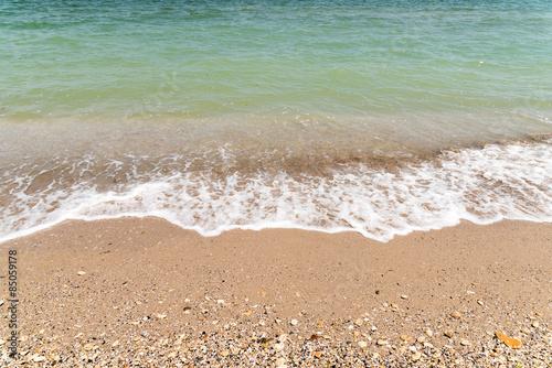 Fotografia The Black Sea Waves At Shoreline