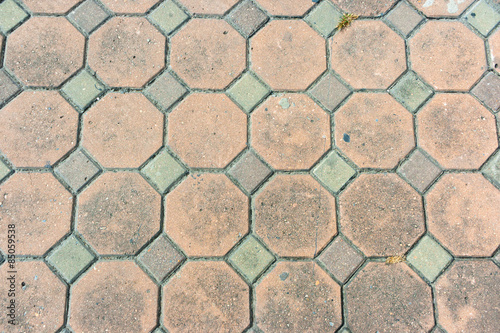 Fotografie, Obraz  Octagon Brick walkway