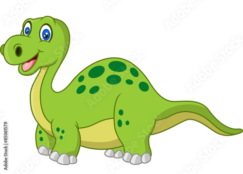 Deurstickers Dinosaurs Cartoon happy dinosaur