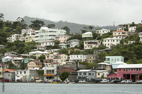 Aluminium Prints New Zealand View of the island Grenada, St. George's, Caribbean