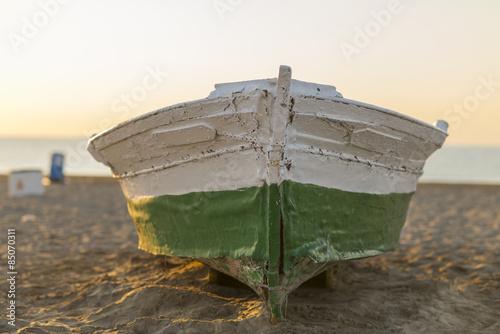 Fotografia, Obraz  Barca de madera.