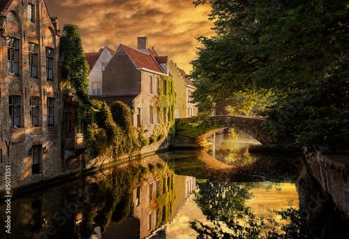 Foto op Canvas Brugge Bruges