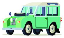 Caricatura Land Rover Verde Vi...