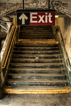 Exit Of A Decayed Subway Stati...
