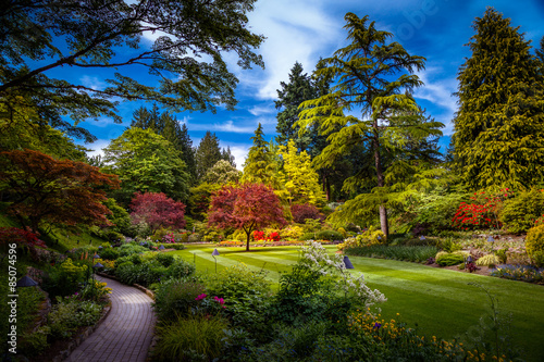 Photo Stands Garden Butchart Gardens in Victoria, Canada