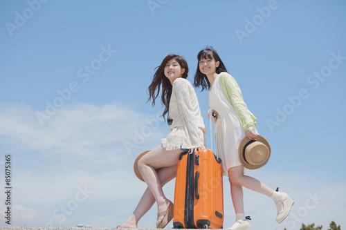 Fotografie, Obraz  旅行をする女の子たち